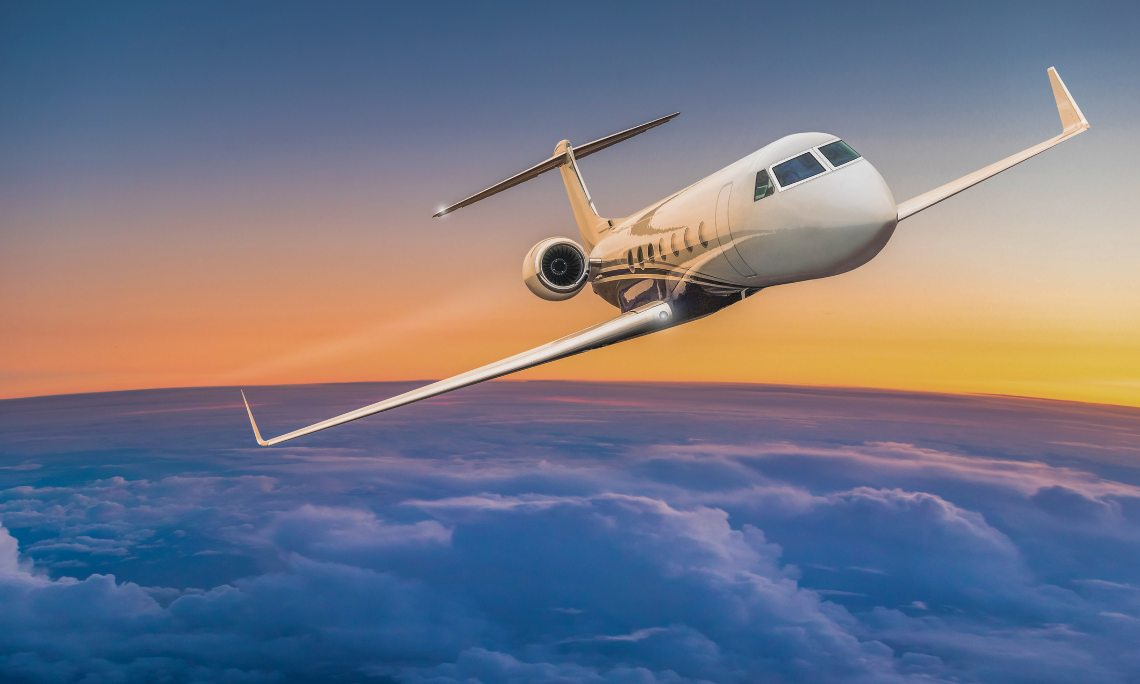 The private jet confronting the Coronavirus emergency