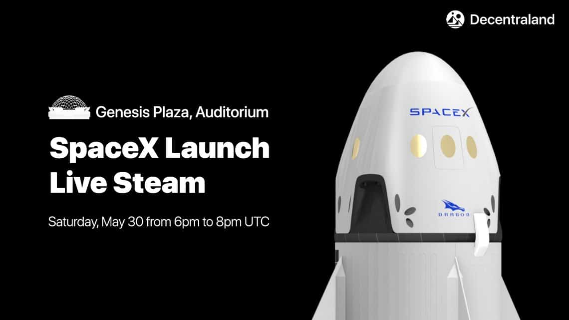 The launch of SpaceX live on Ethereum