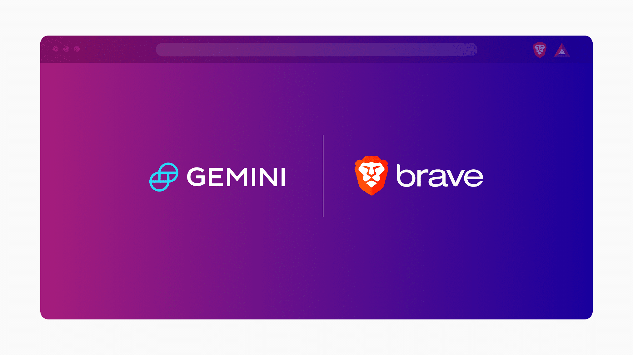 Gemini integrated into Brave Browser