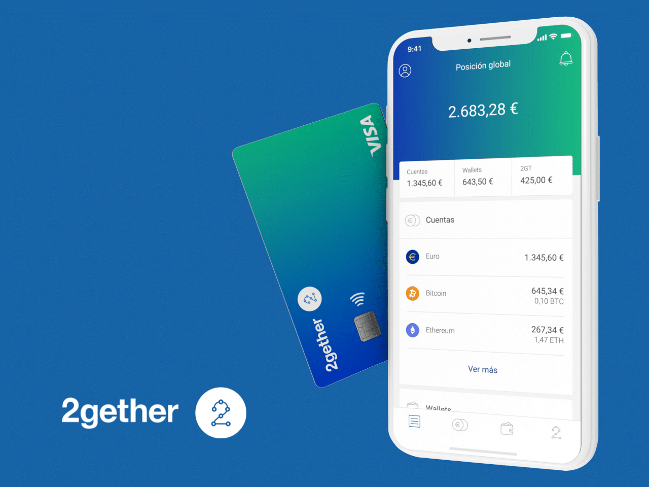 All the perks of 2gether, an app to buy cryptocurrencies using VISA