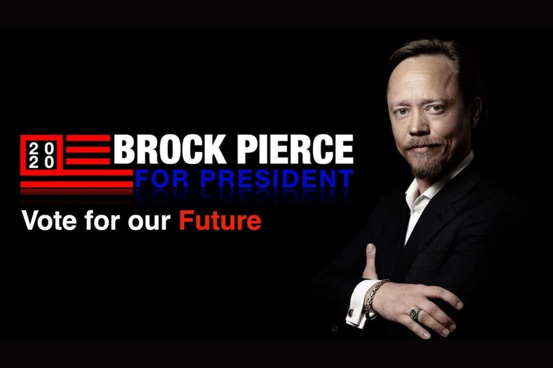 The Vice President of Brock Pierce has been announced