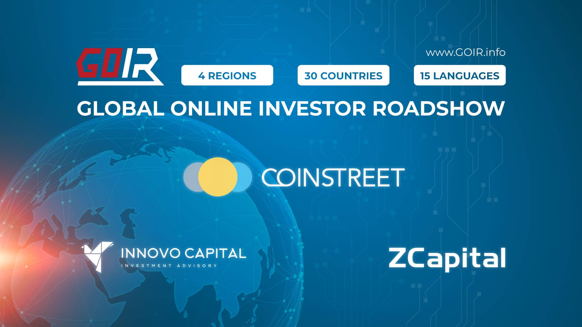 GOIR Expands to China and Europe with ZCapital and Innovo Capital