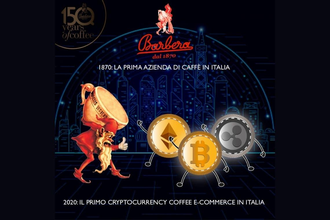 Caffè Barbera, the oldest coffee roastery in Italy accepts cryptocurrencies