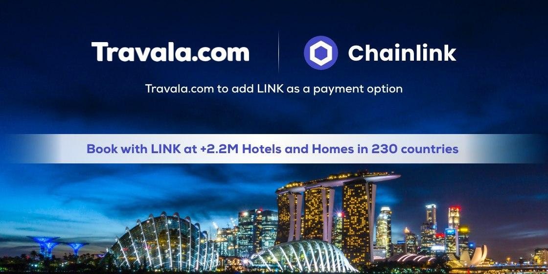 Chainlink (LINK) arrives on Travala
