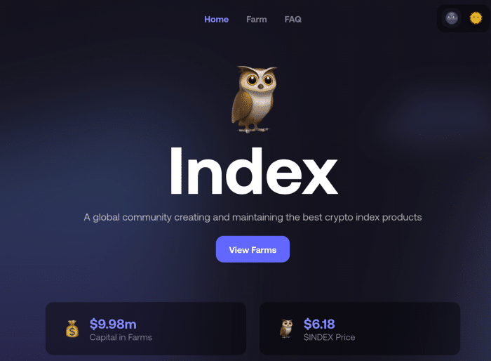 Index Cooperative: DeFi's first Index fund offers liquidity mining
