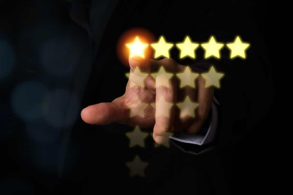 Maximum rating for Bitfinex on CoinGecko