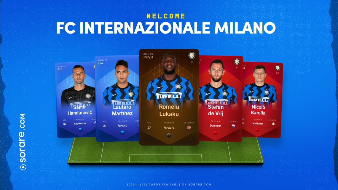 Inter joins the blockchain-based fantasy football of Sorare