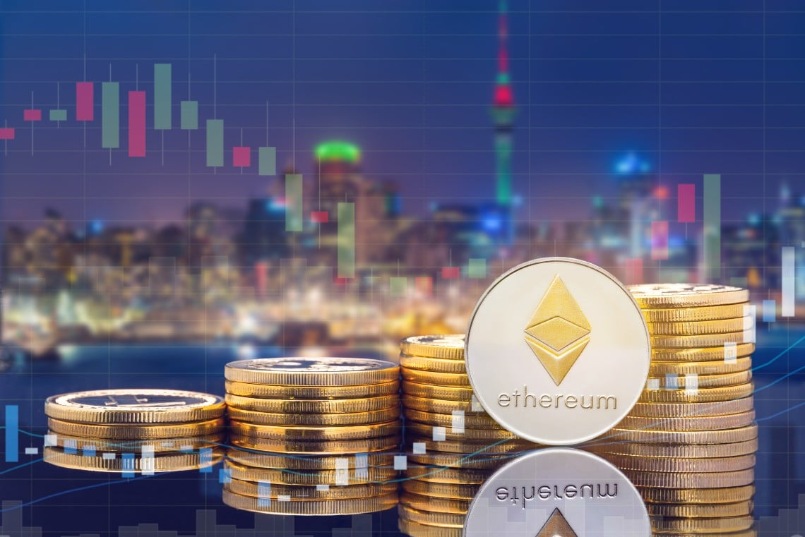 Ethereum down: profit-taking prevails