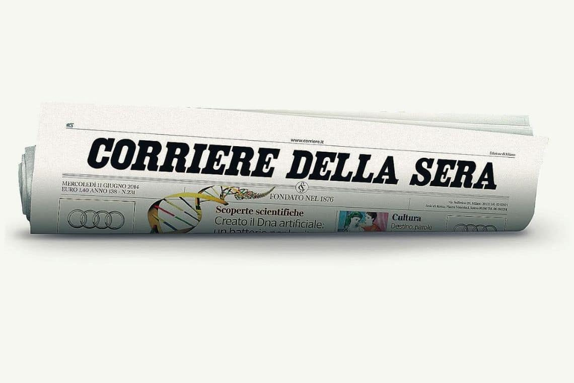 Dataroom, Bitcoin and hackers featured in Corriere della Sera