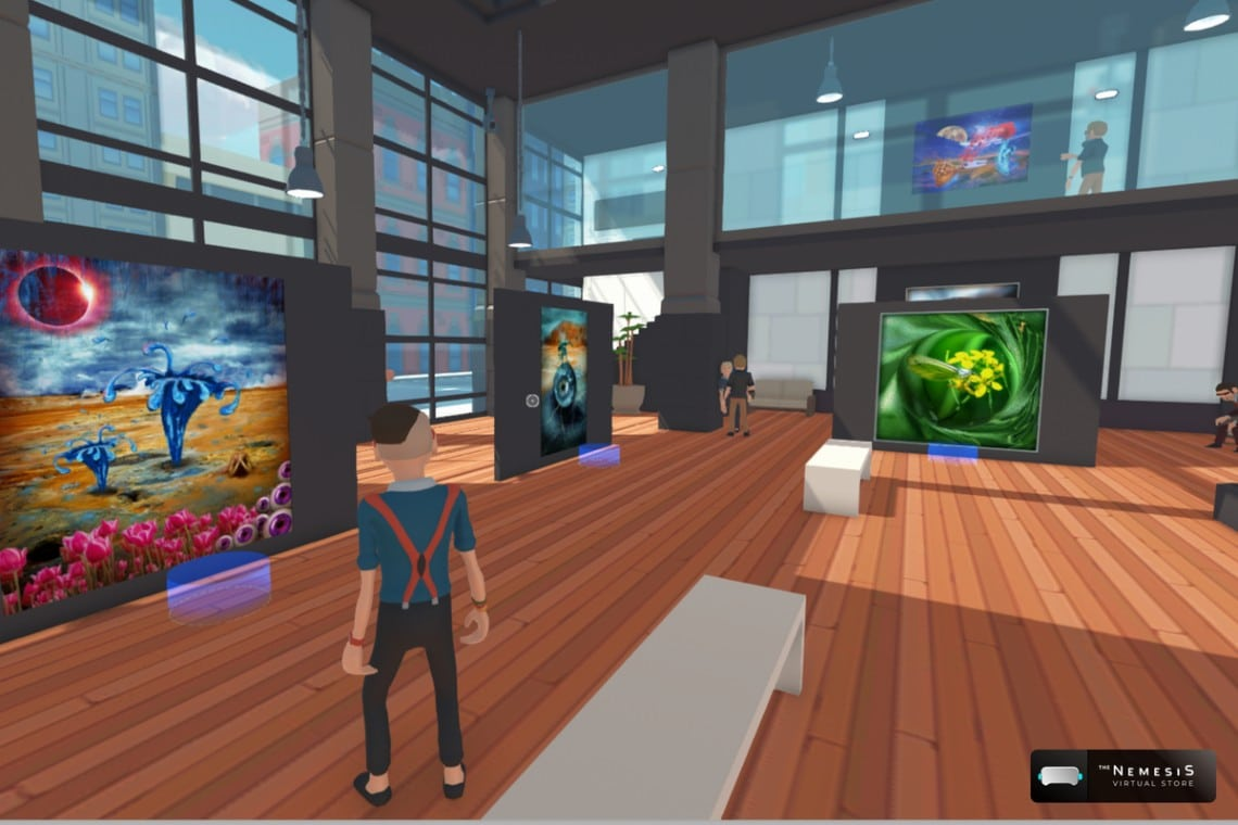The Nemesis and The Cryptonomist team up to promote NFT in a new virtual gallery