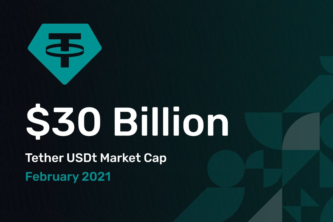 Tether surpasses $30 billion in capitalization