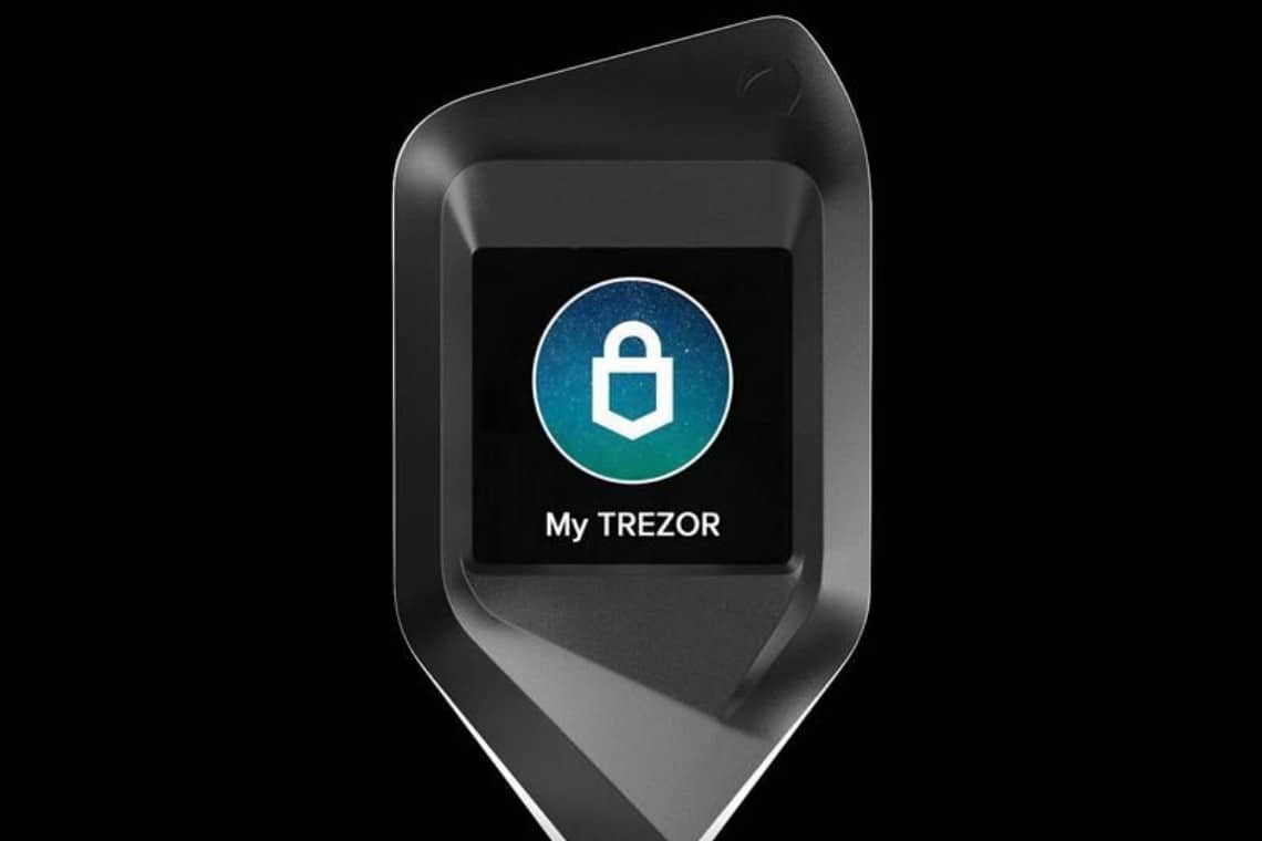 Trezor, a luxury hardware wallet: the CORAZON Aluminium