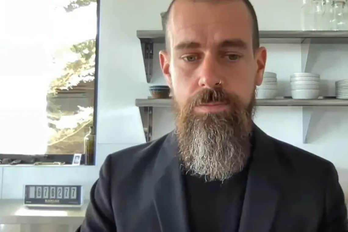 Jack Dorsey shows off his Bitcoin clock to Congress