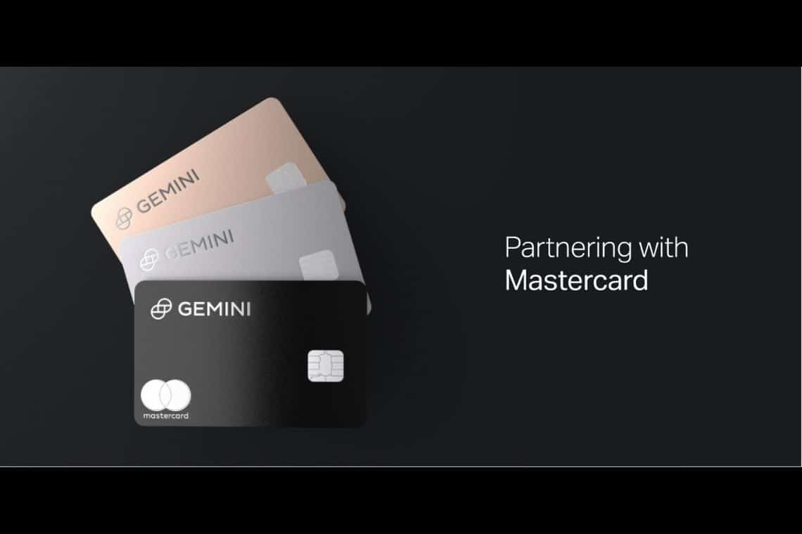 Gemini: partnership con Mastercard