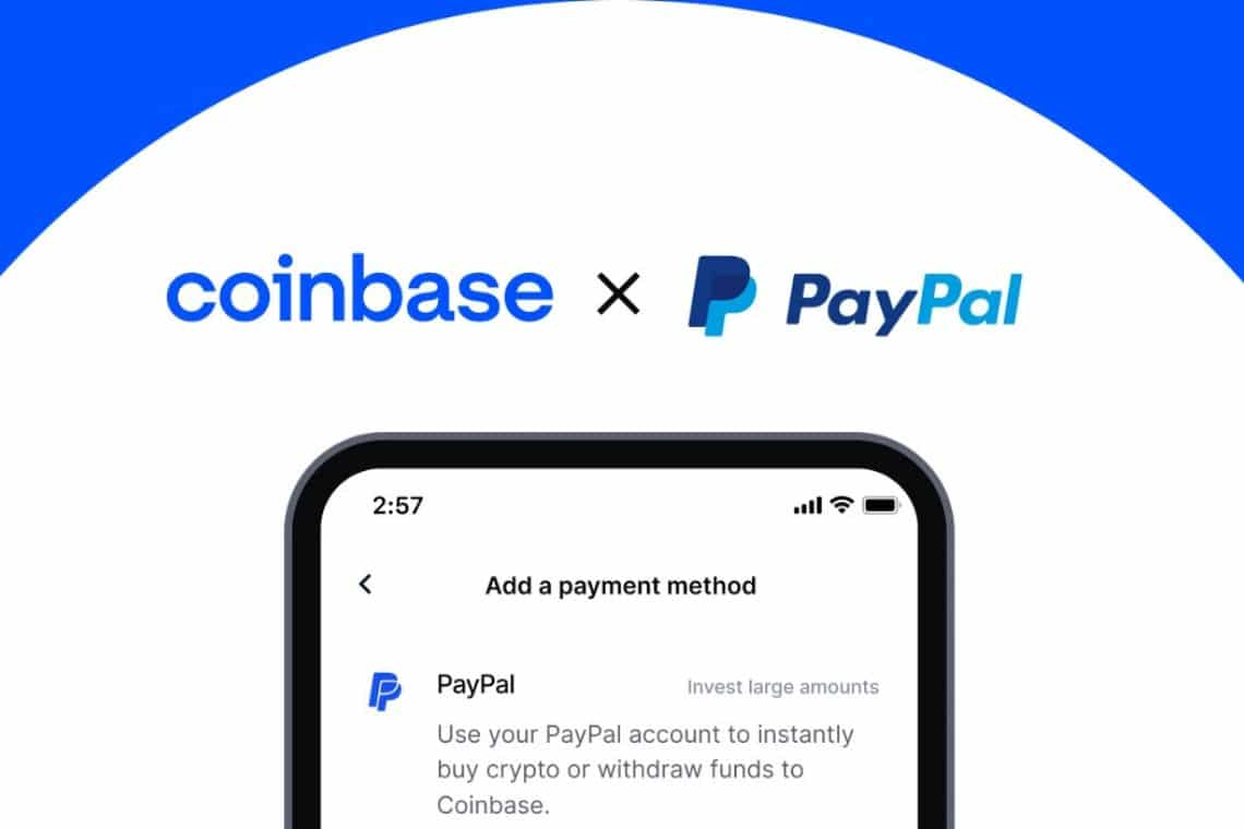 It is now possible to buy with PayPal on Coinbase