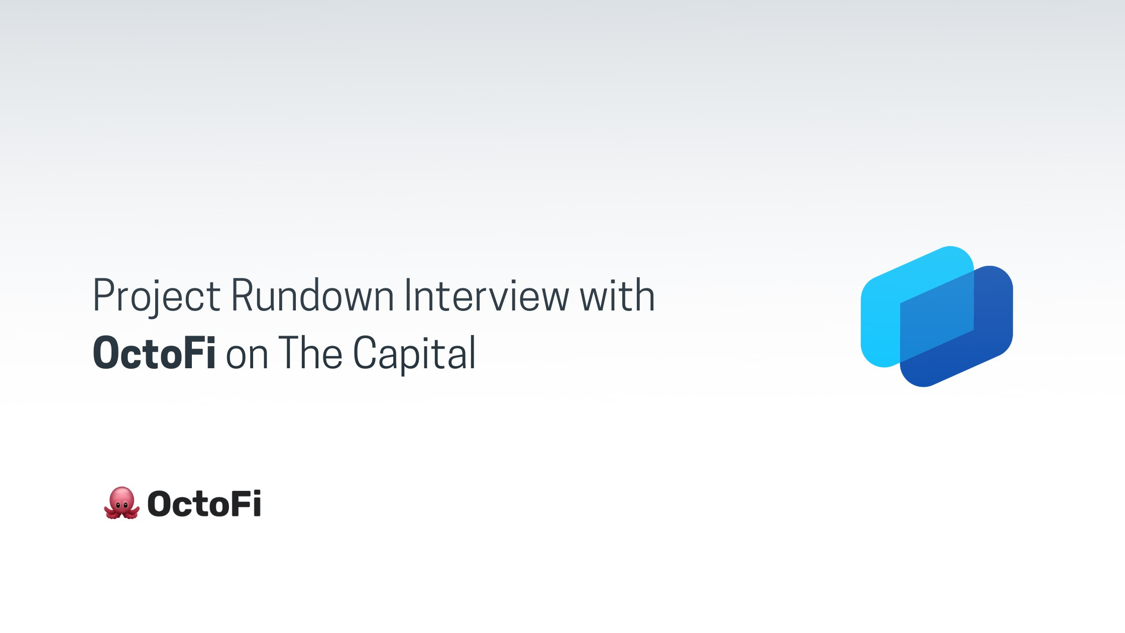 Project Rundown Interview with OctoFi on The Capital