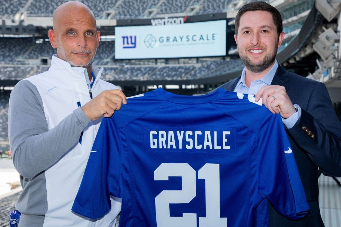 Bitcoin in the NFL: Grayscale partners with the New York Giants