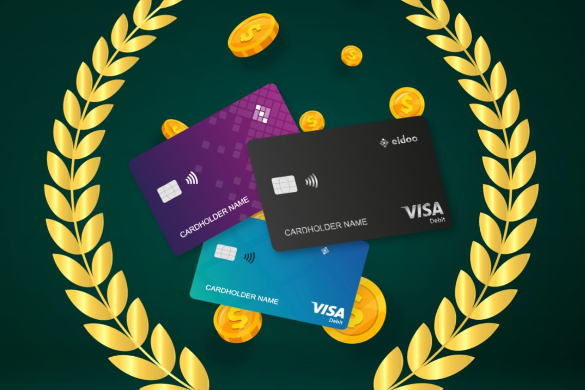 Eidoo sends out the Visa debit cards with 16% cashback