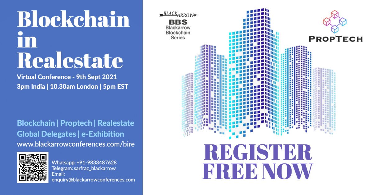 Blockchain in Real Estate Virtual Conference – 9th September 2021