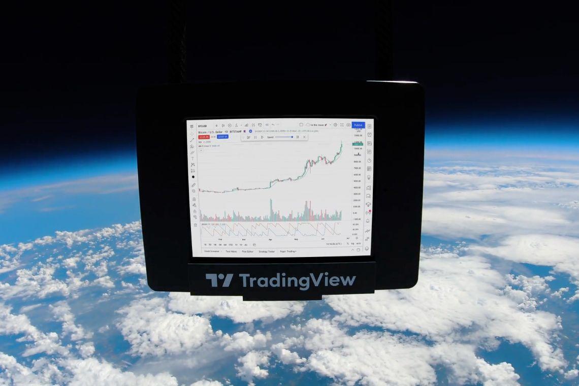 Tradingview posílá Bitcoin do vesmíru a vytváří svůj první NFT