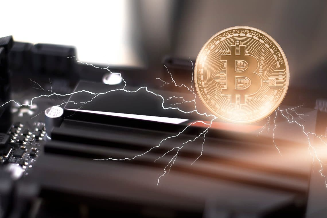 How are bitcoins on the Lightning Network different from on-chain bitcoins?